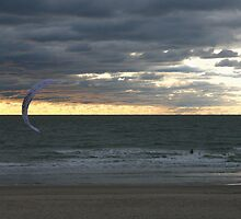 Kiting into the sunset by Dirk Pagel