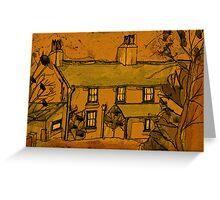 autumn..the fall..wales..uk..a..farmhouse.. Greeting Card