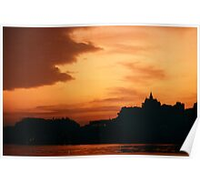 Macau Sunset on the Waterfront Poster