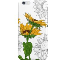 Hand drawn sunflowers iPhone Case/Skin