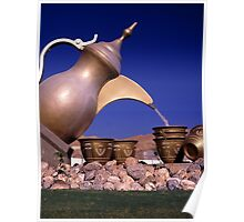 Coffee Pot Roundabout Sculpture Poster