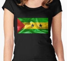 Sao Tome and Principe Flag Women's Fitted Scoop T-Shirt