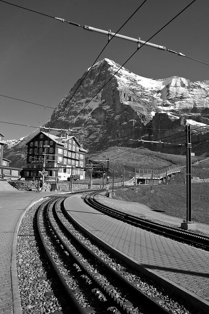 Kleine Sheidegg and The Mighty Eiger North Face by KarenMcWhirter