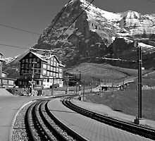 Kleine Sheidegg and The Mighty Eiger North Face by KarenMcWhirter