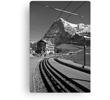 Kleine Sheidegg and The Mighty Eiger North Face Canvas Print