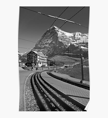 Kleine Sheidegg and The Mighty Eiger North Face Poster