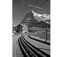 Kleine Sheidegg and The Mighty Eiger North Face Photographic Print