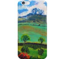 English Countryside Landscape Painting iPhone Case/Skin