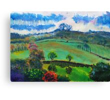 English Countryside Landscape Painting Canvas Print