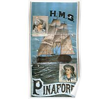 Poster 1870s Circa 1879 DOyly Carte HMS Pinafore from Library of Congress2 Poster