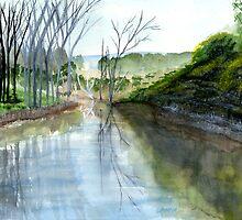 River Scene by rjpmcmahon
