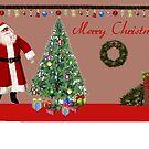 christmas card  by Bernie Stronner