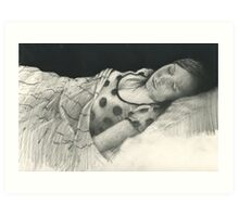 sleeping with polkadots Art Print