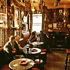 """Early evening in the """"Olde Ship Inn"""", Seahouses, 1980s, NE England. by David A. L. Davies"""