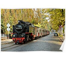 "MVP81 The ""Molli"" steam train in Bad Doberan, Germany. Poster"