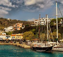 Alonissos Harbour  by larry flewers