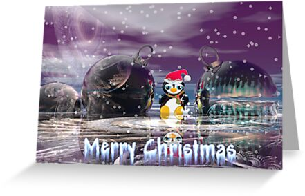 Penguin's Merry Christmas by walstraasart