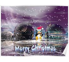 Penguin's Merry Christmas Poster