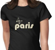paris beige Womens Fitted T-Shirt