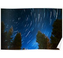 Circular Star Trails Poster