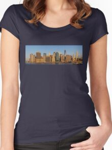 Manhattan panorama Women's Fitted Scoop T-Shirt