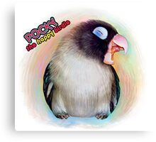 Pocky the happy birdie realistic painting Canvas Print