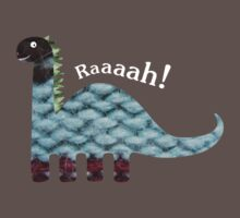 Dinosaur Fabric Collage - Raaah! Baby Tee