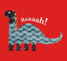 Dinosaur Fabric Collage - Raaah! by Fiona Reeves