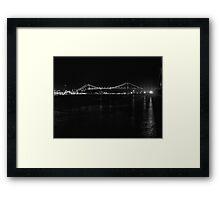 Bridge over the sea Framed Print