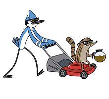 Mordecai & Rigby by NiroStreetLourd
