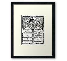 The Ten Commandments 1876 Vintage Poster Restored Framed Print