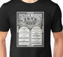 The Ten Commandments 1876 Vintage Poster Restored Unisex T-Shirt