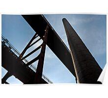 Smoke-stack, Zollverein, Essen, Germany. Poster