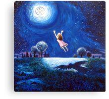 'Big Moon Hug' Canvas Print