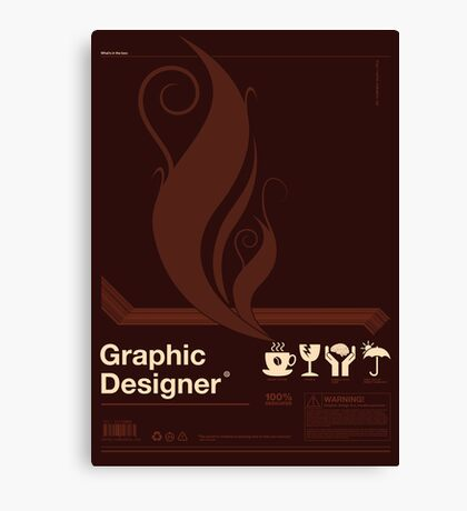 Graphic Designer Canvas Print