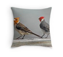 Mr. and Mrs. Bird Throw Pillow