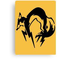 Metal Gear Solid - FOX (Black, over Heart) Canvas Print