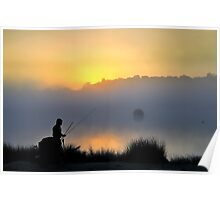 Pen Ponds Fisherman Poster