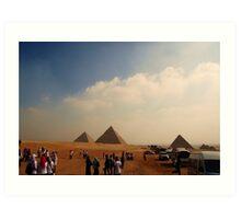 Pyramids - Breast Cancer Walk Art Print