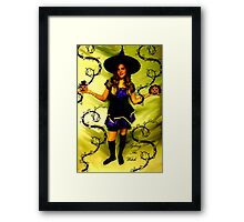 SYDNEY THE WITCH!!!  HAPPY HOLLOWEEN!!!  Framed Print