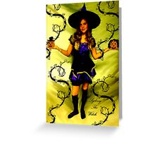 SYDNEY THE WITCH!!!  HAPPY HOLLOWEEN!!!  Greeting Card
