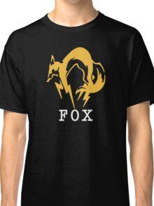 Metal Gear Solid - FOX +text Classic T-Shirt