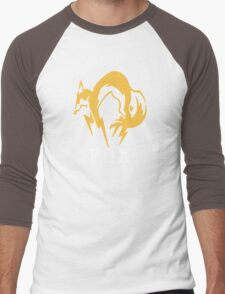 Metal Gear Solid - FOX +text Men's Baseball ¾ T-Shirt