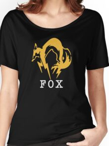 Metal Gear Solid - FOX +text Women's Relaxed Fit T-Shirt