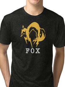Metal Gear Solid - FOX +text Tri-blend T-Shirt