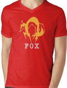 Metal Gear Solid - FOX +text Mens V-Neck T-Shirt