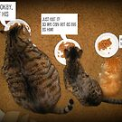 Kitty Dinner Conversation by AngieBanta