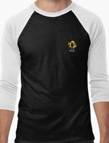 Metal Gear Solid - FOX +text (over heart) Men's Baseball ¾ T-Shirt