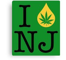 I Dab NJ (New Jersey) Weed Canvas Print
