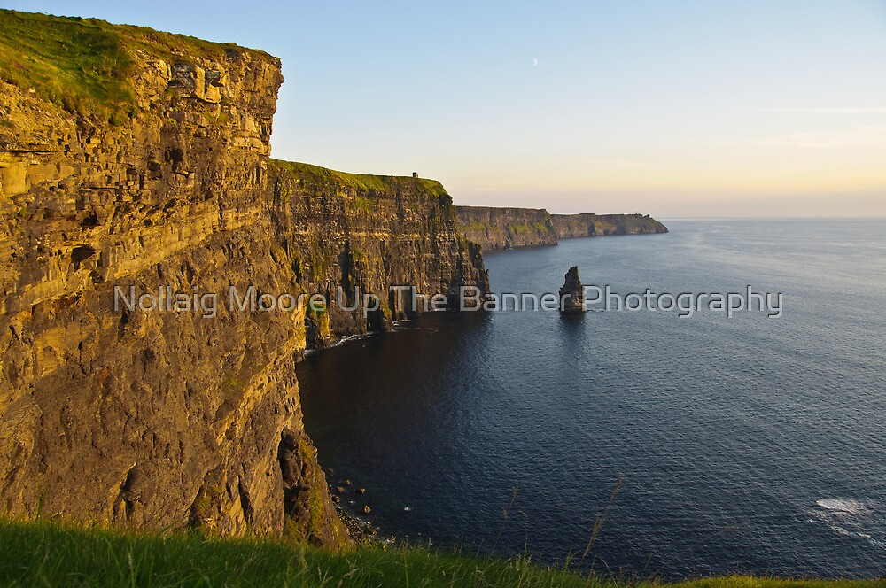 cliffs of moher sunset landscape county clare ireland by upthebanner